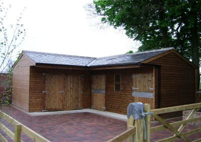 Manufactured Timber Stable Block with Store Yorkshire