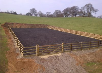Manufactured Arena All Weather Surface Timber Fencing