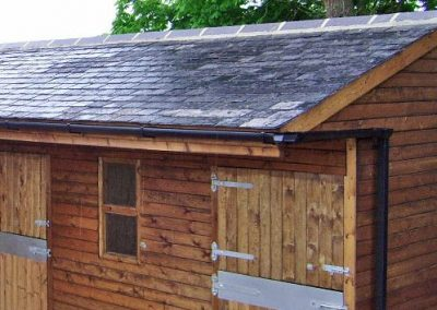 Wooden Stable Block slate roof