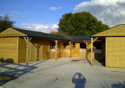 U shaped Timber Stable Block Cheshire